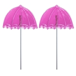 Pink Baby Shower Umbrella Lollipops: 24 Pack