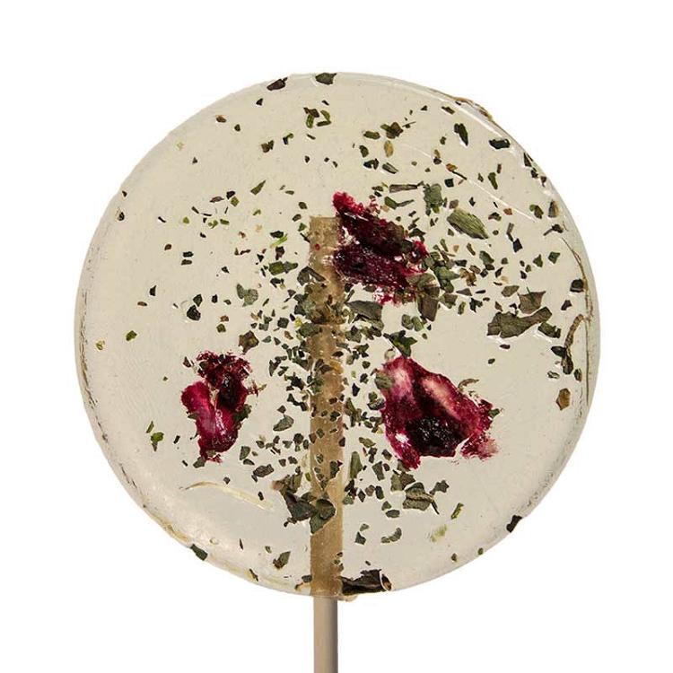 Basil & Pomegranate Natural Lollipops: 12 Pack