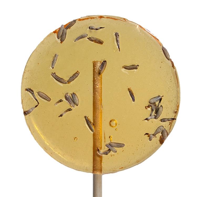 Lavender & Honey Natural Lollipops: 12 Pack