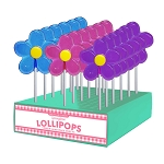 Spring Daisy Lollipops: 24 Pack Display