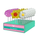 Sweet Flower Lollipop Assortment: 24 Pack Display