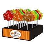 Kosher Autumn Leaf Lollipops: 24 Pack Display