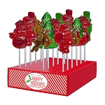 Classic Holiday Lollipop Assortment: 24 Pack Display