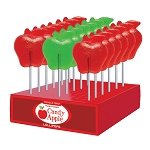Kosher Fall Apple Lollipops: 24 Pack Display