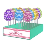 Frosted Egg Lollipops: 24 Pack Display