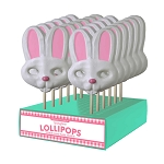 Giant Bunny Lollipop Masks: 12 Pack Display