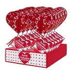 Giant Confetti Heart Lollipops: 12 Pack Display
