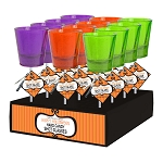 Lolli-Shots Halloween Shot Glasses: 12 Pack Display