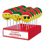 Holiday Emoticon Lollipops: 24 Pack Display