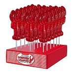 Large 2oz Lobster Lollipops: 24 Pack Display