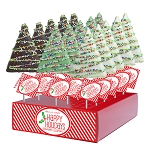 Holiday Drizzle Crispy Rice Trees: 12 Pack Display
