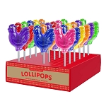Rooster Lollipops: 24 Pack Display