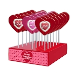 Love Lace Iced Lollipops: 24 Pack Display