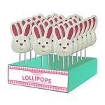Sanded Bunny Face Lollipops: 24 Pack Display