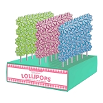 Frosted Stacked Daisy Lollipops: 24 Pack Display