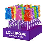 Sugar Bear Lollipops: 24 Pack Display