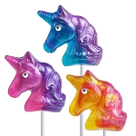 Glitter Swirl Unicorn Shaped Lollipops: 12 Pack