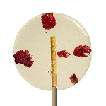 Raspberry & Lime Natural Lollipops: 12 Pack