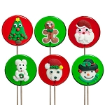Royal Iced Christmas Lollipops</br>Pack 24