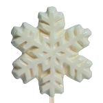 Icon White Snowflake Lollipops: 24 Pack