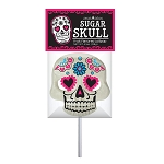 Giant Sugar Skull Lollipop Masks: 6 Pack w/ Peg Tag