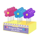 2oz Spring Daisy Lollipops: 12 Pack Display