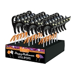Spooky Black Cat Lollipops: 24 Pack Display