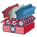 Patriotic Marshmallow Stars: 18 Pack Display