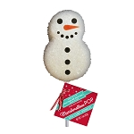 Sugar Crystal Snowman Marshmallow Lollipops: 24 Pack