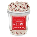 White Chocolate Peppermint Dipped Spoons: 30 Pack Bucket