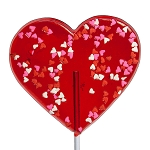 Giant Confetti Heart Lollipops: 6 Pack