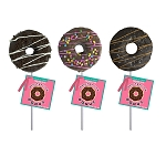 Marshmallow Chocolate Doughnut Lollipops: 12 Pack