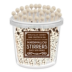 Mini Marshmallow Chocolate Stirrers: 30 Pack Bucket