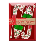 Chocolate Dipped Holiday Confetti Lollipops: 3 Kraft Gift Sets