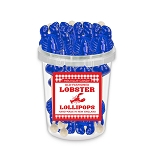 Small Blue Lobster Lollipops: 30 Pack Bucket