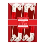 Chocolate Dipped Candy Cane Lollipops: 3 Kraft Gift Sets