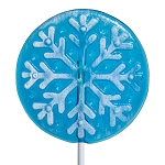 Frosted Snowflake Circle Lollipops: 24 Pack