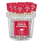 Peppermint Chocolate Cookie Stirrers: 30 Pack Bucket