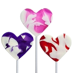 Valentine Cream Swirl Heart Lollipops: 24 Pack