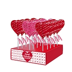Chocolate Drizzled Heart Lollipops: 24 Pack Display