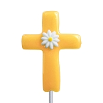 Daisy Cross Lollipops: 12 Pack
