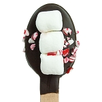 Peppermint & Mini Marshmallow Chocolate Dipped Spoons: 12 Pack