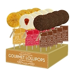 Dessert Creme Brulee, Strawberry Shortcake and Chocolate Mouse Lollipops: 24 Pack Display