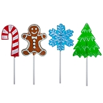 Frosted Holiday Lollipop Assortment: 24 Pack