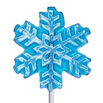Frosted Snowflake Lollipops: 24 Pack