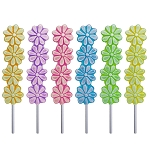 Frosted Stacked Daisy Lollipops: 24 Pack