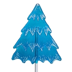 Frosted Blue Holiday Tree Lollipops: 24 Pack