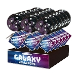 Galaxy Circle Lollipops: 24 Pack Display