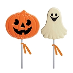 2oz Jackolantern & Ghost  Lollipops Assortment: 12 Pack