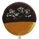 Chocolate Dipped Salted Caramel Gourmet Lollipops: 12 Pack